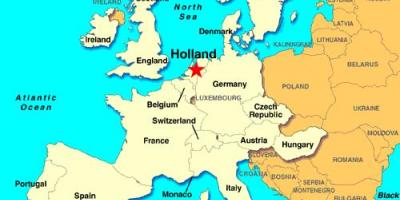 Mapa ng Holland europa