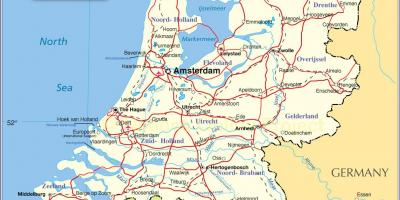 Mapa ng Holland Netherlands
