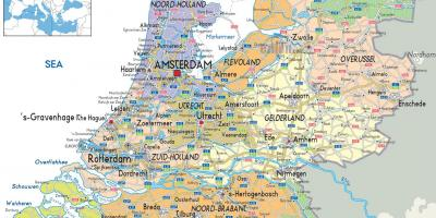 Holland Netherlands mapa